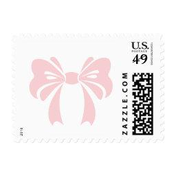 Pink Bow | It's a Girl  Stamp