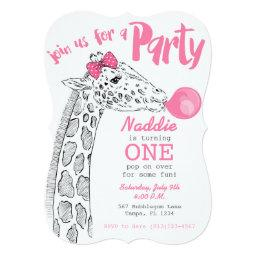 Pink Bubblegum and Giraffe Party