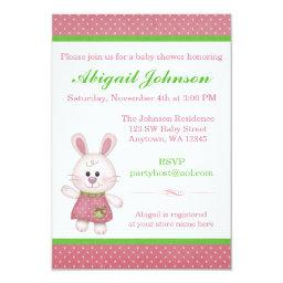 Pink Bunny Rabbit Baby Shower