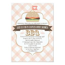 Pink Burger Couples BBQ Baby Shower