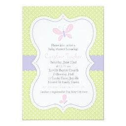 Pink Butterfly Baby Girl Shower