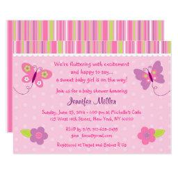 Pink Butterfly Baby Shower
