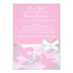 Pink Camo Baby Girl Shower