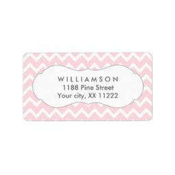 pink chevron personalized party favor tags