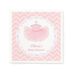 Pink Cute Ballerina Tutu Girl Baby Shower Supplies Napkin
