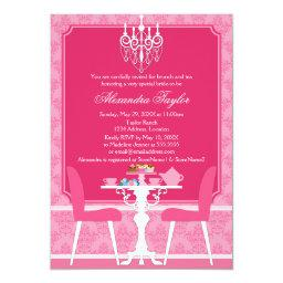 Pink Damask and Chandelier Baby Tea Party