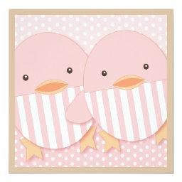 Pink Ducky Twin Girls Baby Shower