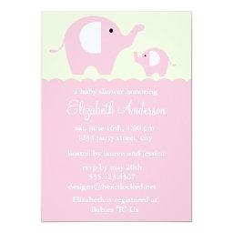 Pink Elephants Baby Shower