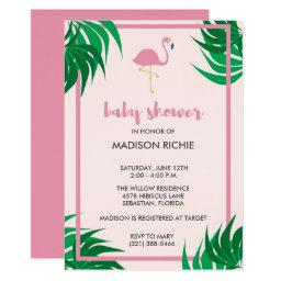 Pink Flamingo Tropical Baby Shower