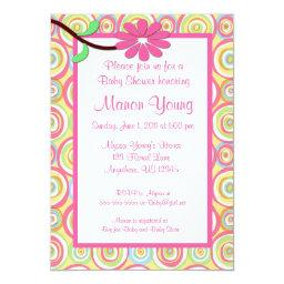 Pink Floral Swirl Baby or Baby Shower