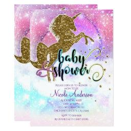 Pink Galaxy Magical Unicorn Sparkle Baby Shower
