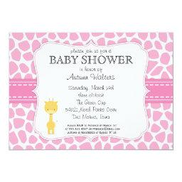 Pink Giraffe Baby Shower