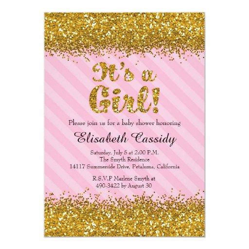 Glitter Baby Shower Invitations | BabyShowerInvitations4U
