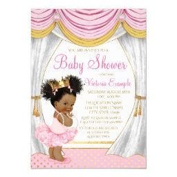 Pink Gold Princess Curtains Baby Shower