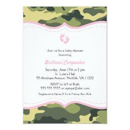 Pink & Green Camo Girl Baby Shower  feet