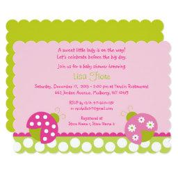 Pink & Green Ladybug Baby Shower