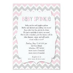 Pink Grey  / girl  invite