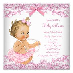 Pink Lace Tutu Girl Baby Shower