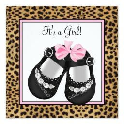 Pink Leopard Baby Shower