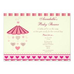 Pink Mobile Baby Shower