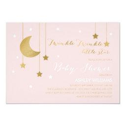 Pink Moon and Stars Baby Shower
