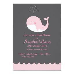 Pink Nautical Whale Baby Shower