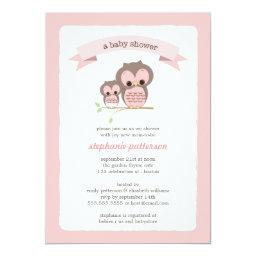 Pink Owl Mommy & Baby Shower