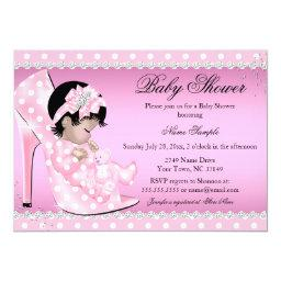 Pink Polka Dots Shoe Baby Girl Baby Shower Asian