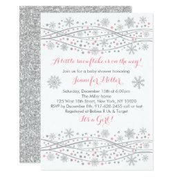 Pink & Silver Glitter Snowflake