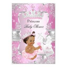 Pink Silver Princess  Brunette Girl