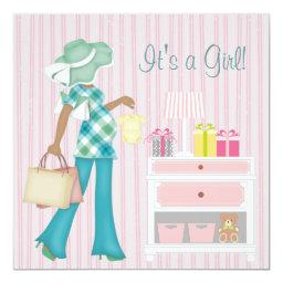 Pink Stripes Baby Girl Shower