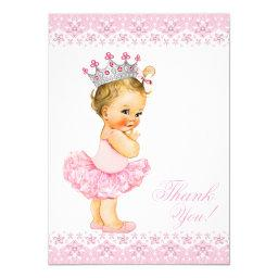 Pink Tutu Princess Baby Shower Thank You