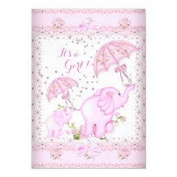 Pink Umbrella Elephant Calf  Girl