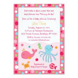 Pink Under the Sea Baby Shower