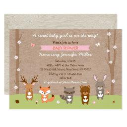 Pink Woodland Animal Baby Shower