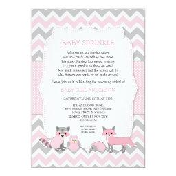 Pink woodland animal baby sprinkle, baby shower