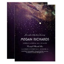 Plum and Gold Shooting Star Starry