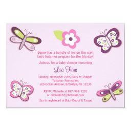 Plum Butterfly Dragonfly Baby Shower