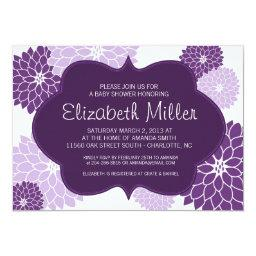 Plum & Lilac Purple Baby or  Invite