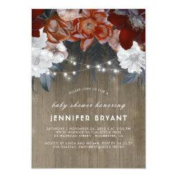 Plum Purple Floral Lights Rustic