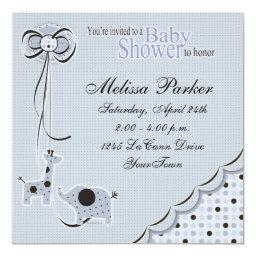 Poka Dots in Blue Baby Shower