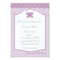 Polka Dots and Butterfly Lavender Baby Shower