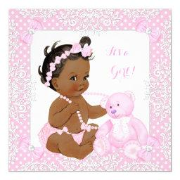 Pretty  Girl Lace Pink Bear Ethnic