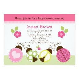 Pretty Ladybugs & Flowers Baby Shower