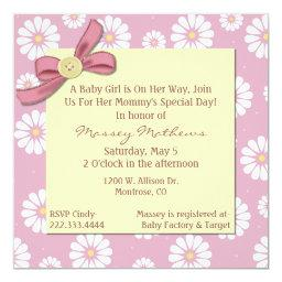 Pretty Pink Daisies Baby Girl Shower