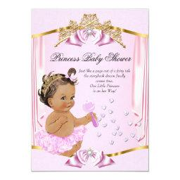 Pretty Princess Baby Shower Pink Gold Brunette