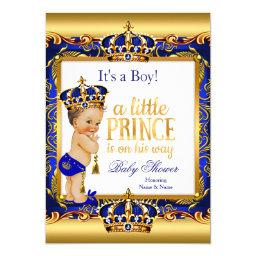 Prince  Blue Ornate Gold Brunette Boy