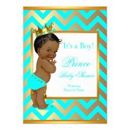 Prince  Boy Gold Teal Blue Ethnic