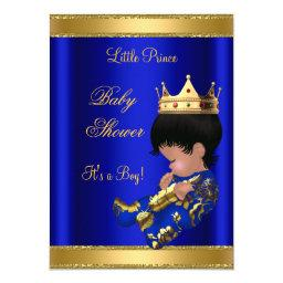 Prince Boy Baby Shower Blue 2 African American
