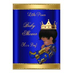 Prince Boy Baby Shower Blue Ethnic